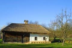 domowy dach pokrywać strzechą typowego Fotografia Royalty Free