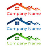 Domowy dachowy logo ilustracja wektor