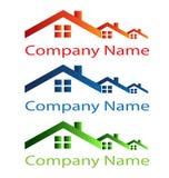 Domowy dachowy logo Fotografia Royalty Free