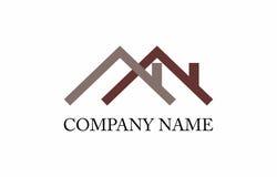 Domowy dachowy logo royalty ilustracja