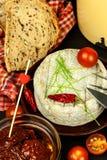 Domowy dorośleć foremka ser Odosobneni przedmioty Aromatyczny ser z foremką zdjęcie stock