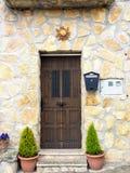 Domowy drewniany drzwi Obrazy Royalty Free