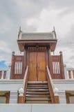 Domowy drzwiowy drewniany tajlandzki styl Obraz Stock