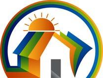 Domowy edukacja logo ilustracji