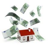Domowy Hipoteczny euro Zdjęcia Stock