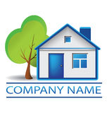 Domowy i drzewny logo Zdjęcia Royalty Free