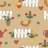 Domowy i ogrodowy dekoracja stylu wektoru tło Obraz Royalty Free