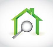 Domowy i powiększa ilustracyjnego projekt Zdjęcie Stock