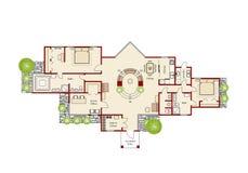 domowy idealny plan Obrazy Royalty Free