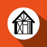 Domowy ikona projekt Fotografia Stock