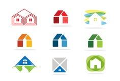 Domowy ikony i nieruchomości logo Fotografia Royalty Free