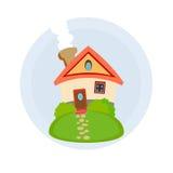 Domowy ikony mieszkania architektury budynek Zdjęcia Stock