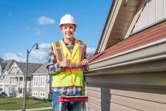 Domowy inspektor pod warunkiem, ?e inspekcja dom obrazy royalty free