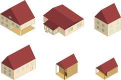 domowy isometric Obrazy Stock
