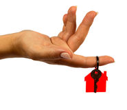 domowy klucz Zdjęcia Stock