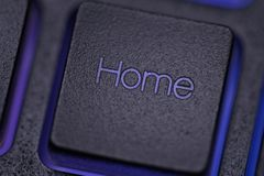 Domowy klucz na klawiaturze Obraz Royalty Free
