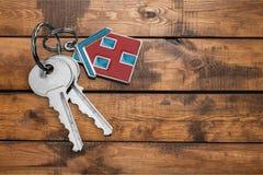 Domowy klucz na stole Obraz Royalty Free