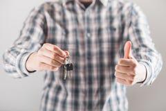Domowy klucz w ręce Obraz Royalty Free