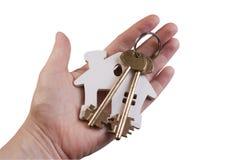 Domowy klucz w ręce Zdjęcia Royalty Free