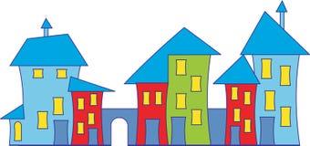 domowy kreskówki miasteczko Fotografia Stock