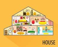 Domowy kreskówki wnętrze Zdjęcie Stock