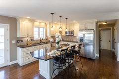 Domowy kuchenny wnętrze fotografia royalty free