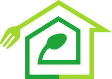 Domowy kulinarny logo Obraz Stock