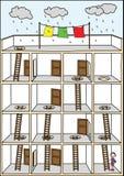 domowy labirynt royalty ilustracja