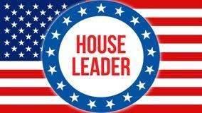 Domowy lidera wybory na usa tle, 3D rendering Zlani stany Ameryka zaznaczają falowanie w wiatrze Głosować, wolność royalty ilustracja