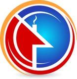 domowy logo Obrazy Stock