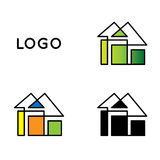 domowy logo Fotografia Stock