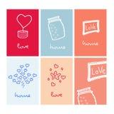 Domowy miłości karty walentynki dzień royalty ilustracja