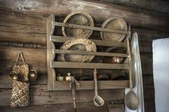 Domowy muzeum, dziejowa Rosyjska buda w którym był urodzony Chapaev Obrazy Stock