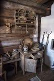 Domowy muzeum, dziejowa Rosyjska buda w którym był urodzony Chapaev Fotografia Stock