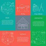 Domowy naprawa set ilustracja wektor