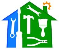 Domowy naprawy i ulepszenia logo Obraz Royalty Free