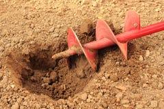 Domowy narzędzie dla musztrować dziury dla drewnianych słupów Zdjęcie Stock