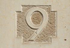 Domowy numerowy znak Obrazy Royalty Free