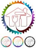domowy obrazu logo royalty ilustracja