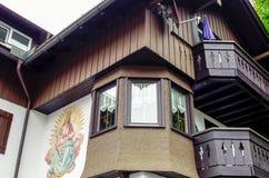 Domowy odrodzenie dom w Oberstdorf, Niemcy Obrazy Stock