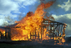 Domowy ogień Zdjęcie Royalty Free