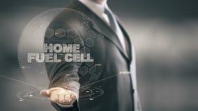Domowy ogniwo paliwowe z holograma biznesmena pojęciem zdjęcie wideo