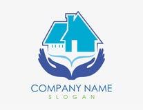 Domowy opieka logo na białym tle Obrazy Royalty Free
