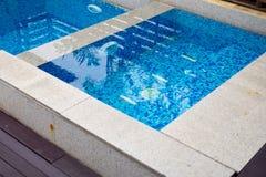Domowy pływacki basen Zdjęcia Royalty Free