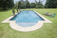 Domowy pływacki basen Obrazy Stock