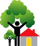 domowy pary drzewo ilustracji