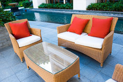 domowy patio Zdjęcia Royalty Free