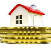 Domowy pieniądze Pokazuje kupienie Real Estate Lub sprzedawanie ilustracji