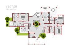 Domowy podłogowy plan royalty ilustracja