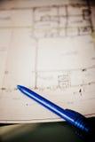 Domowy projekt z piórem Fotografia Stock